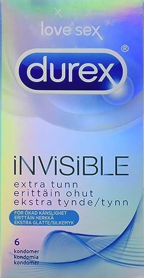 Durex Preservativos amor Sexo Invisible – Pack de 6: Amazon.es ...