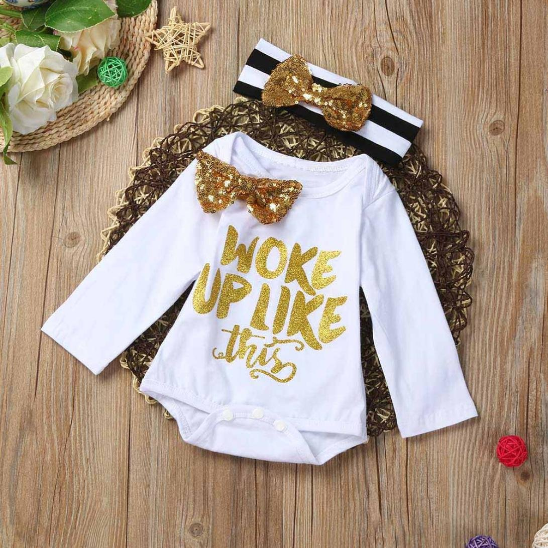 Efater TM CuteWORK UP Letters Pattern Baby Bowknot Tie Dai Dai Hairband Set