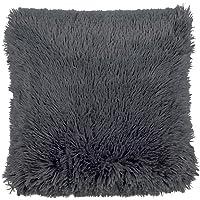 Dutch Decor Fluffy Sierkussen, Polyester, Antraciet