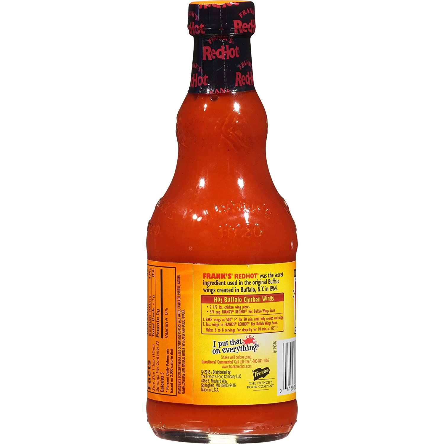 Franks Red Hot Buffalo Wing Sauce, 12 oz: Amazon.es: Alimentación y bebidas