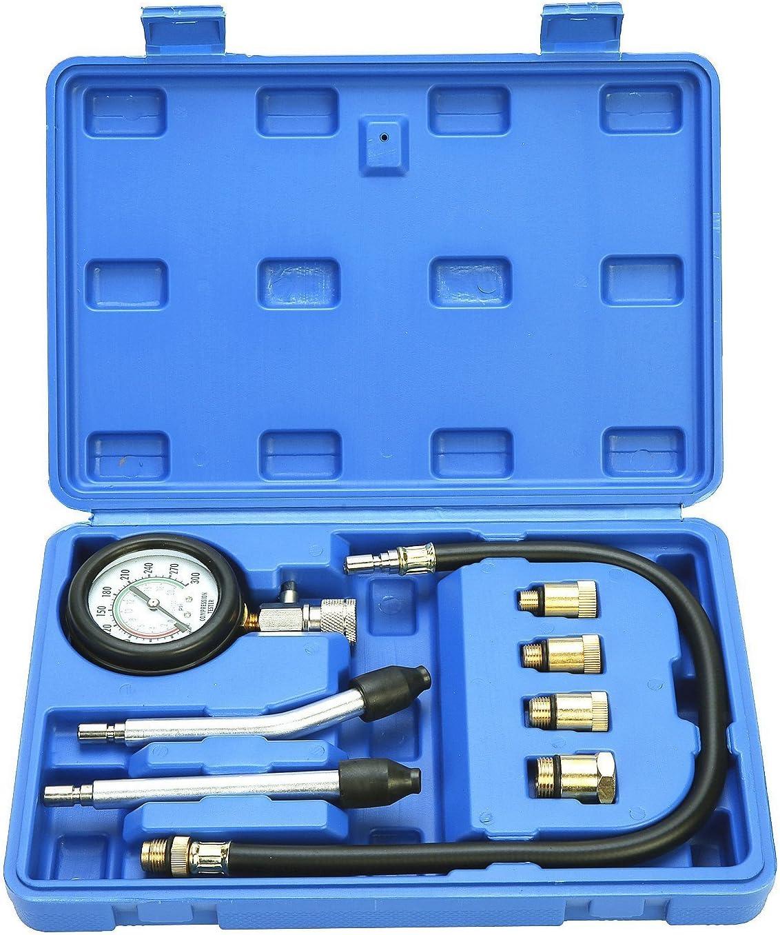 FreeTec Kit De Prueba De Compresión De Cilindro Motor Kit De Herramienta De Probador De Compresión