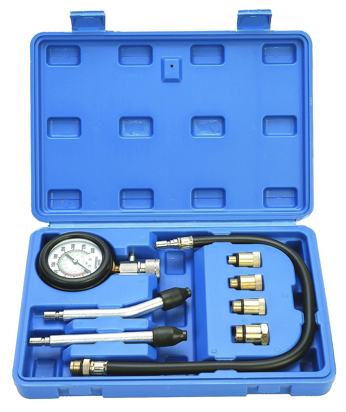 FreeTec–outdoor-special Cuchilla kompressionstester Detector prueba dispositivo Motor de gasolina 0–20bar o 0–300psi, cuchillo Moreno freebirdtrading
