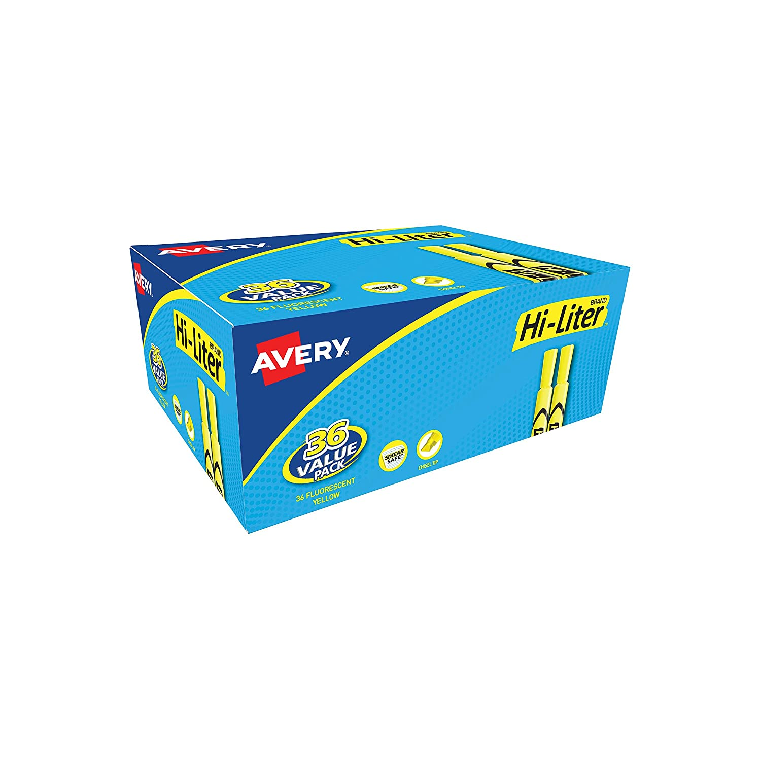 Avery Desk Style HI-LITER, Green, 12 Pack (24020)