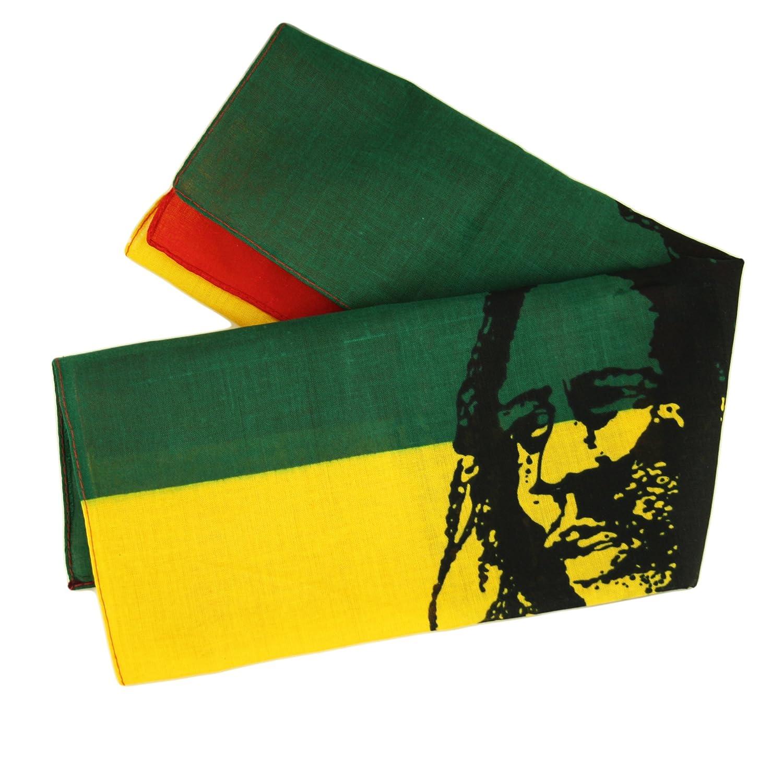 Bandana-Rasta 100/%  coton Foulard bandeau BOB MARLEY Noir