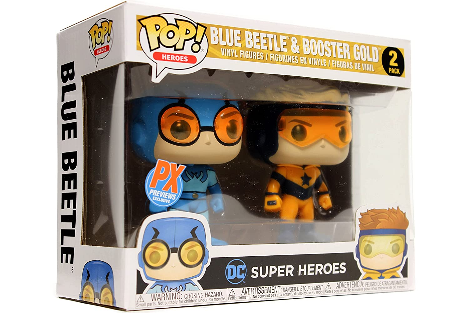 Funko Pop Dc Heroes Booster Gold And Blue Beetle 2 Bott Jl Cyborg Pack Previews Exclusive Vinyl Figure Bundled With Box Protector Case Toys Games