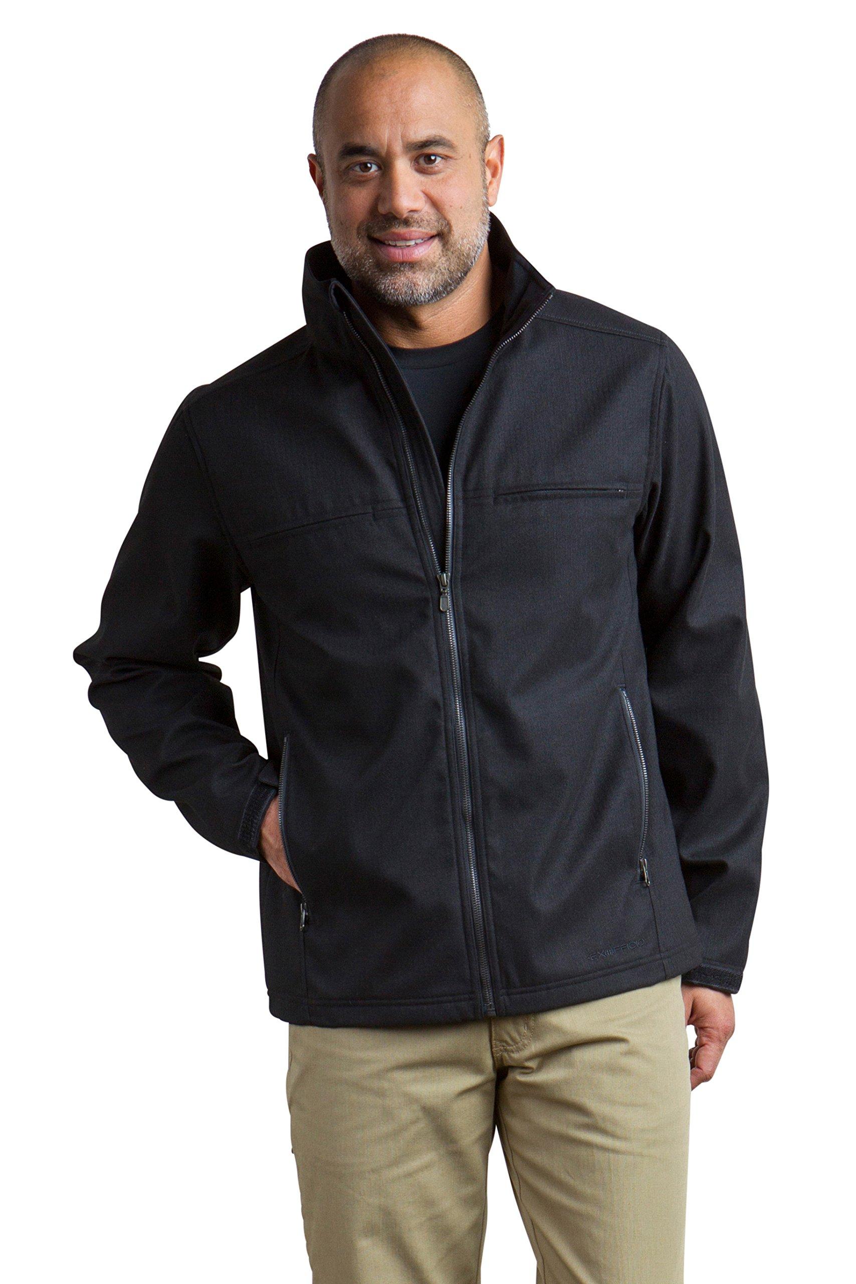ExOfficio Men's Mackenzie Jacket Long Sleeve, Black, Large by ExOfficio