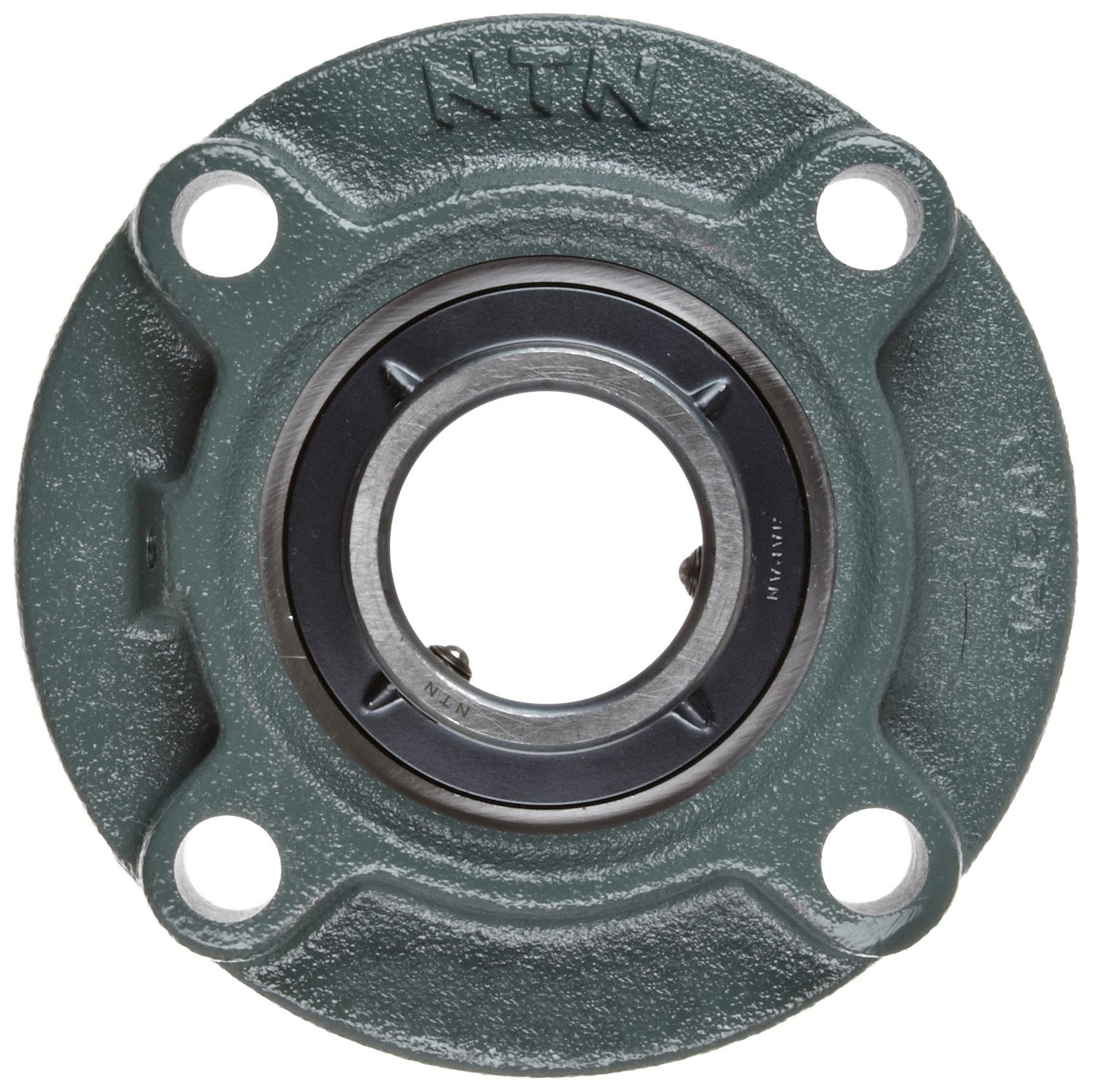 4 Bolts 5-7//16 Bolt Hole Spacing Width NTN UCFC210-200D1 Light Duty Piloted Flange Bearing Cast Iron 2 Bore 6-1//2 Height Regreasable Setscrew Lock Contact and Flinger Seals