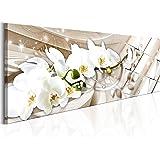 murando - Quadro - XXL Formato -120x40 cm - Quadro su Tela fliselina - Stampa in qualita Fotografica- b-B-0144-b-b Orchidea Fiori Astratto