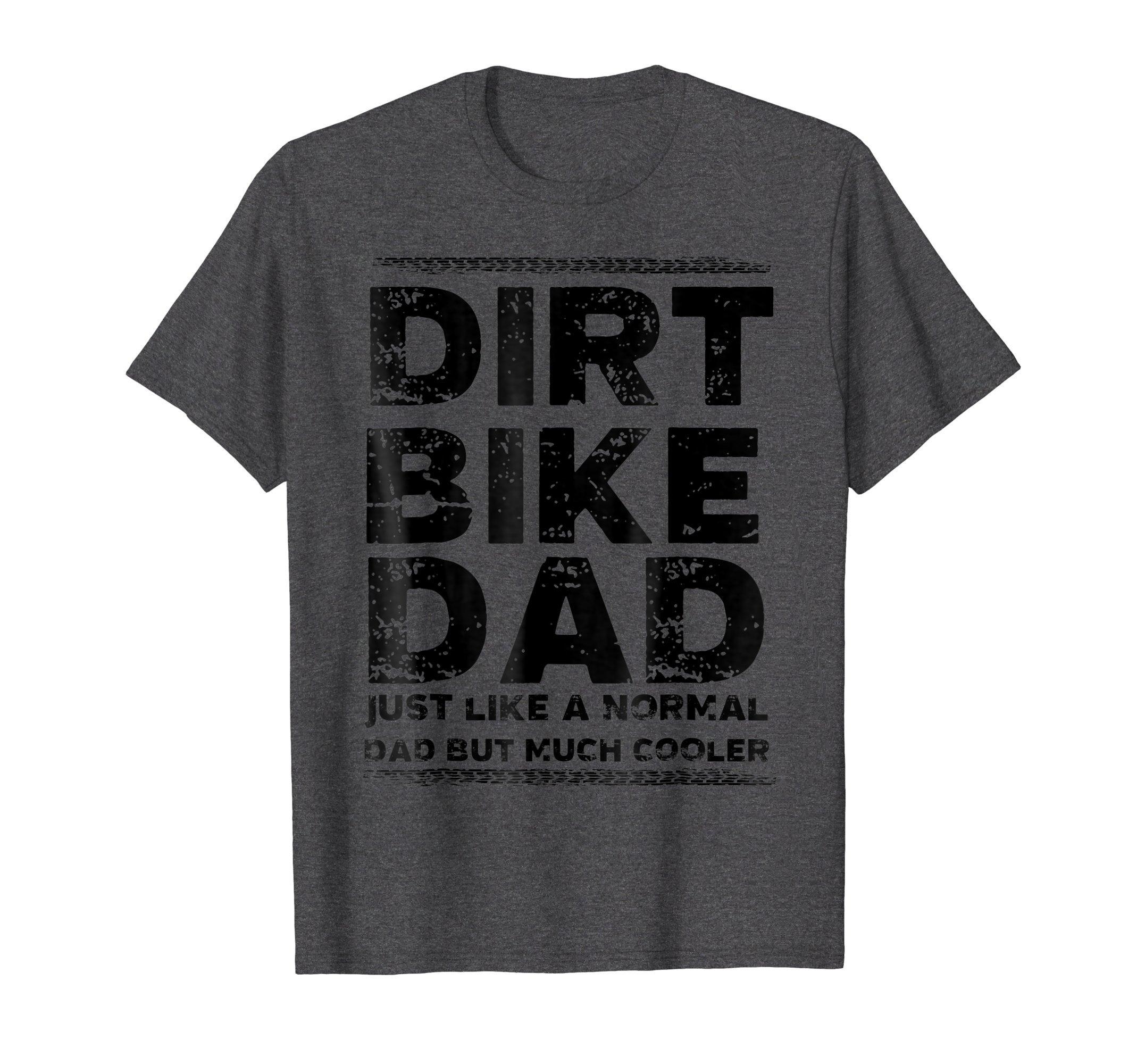 Mens DIRT BIKE DAD Bike T-Shirt | Motocross Enduro Shirt XL Dark Heather