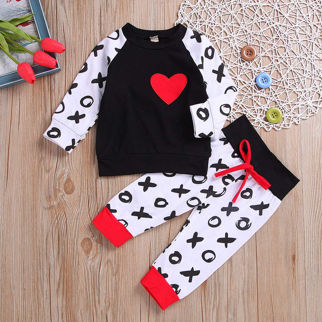 Amazon.com: 🍒👖Newborn Infant Valentine Set, Unisex Baby Heart T ...