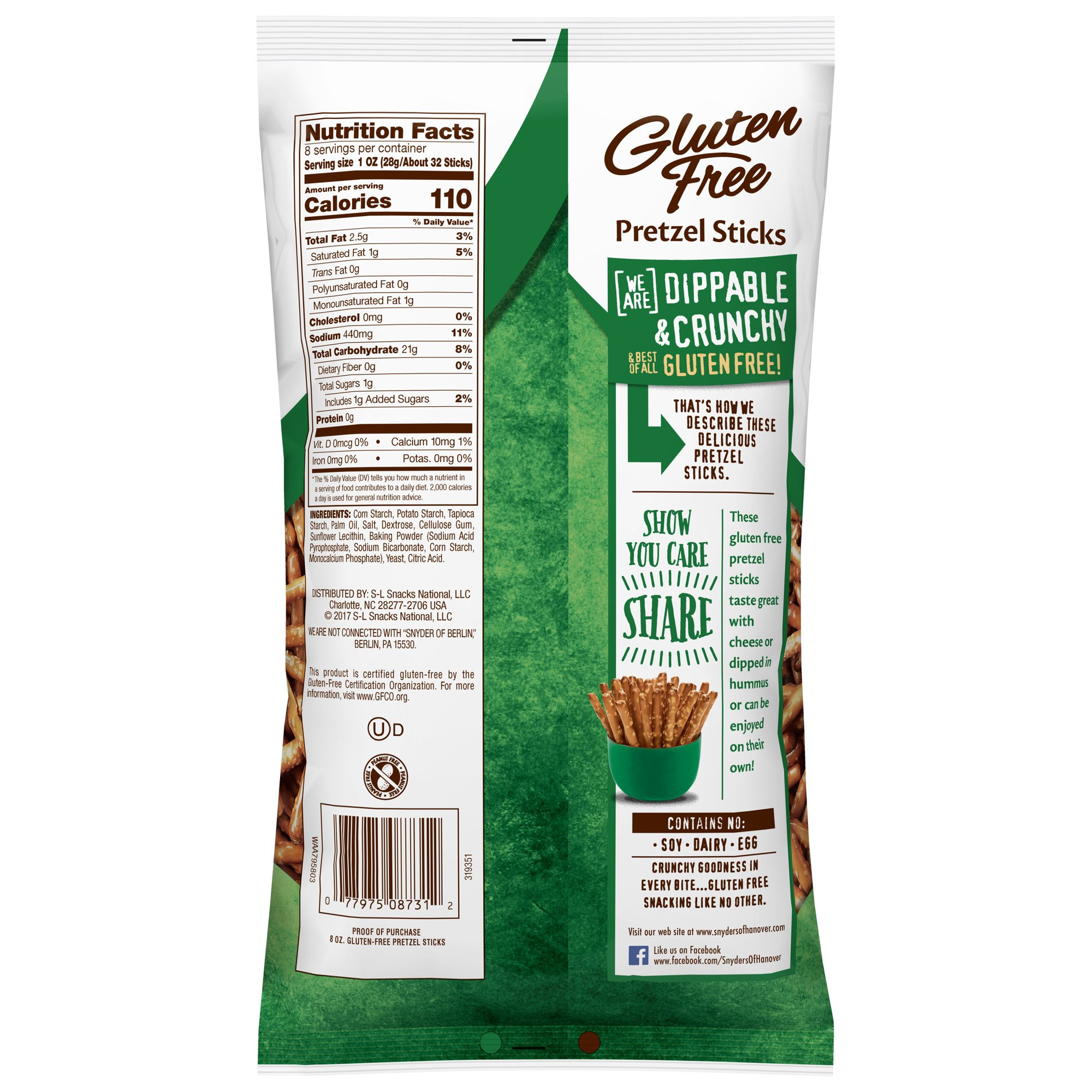 Snyder's of Hanover Gluten Free Pretzel Sticks, 8 Ounce (Pack of 12) by Snyder's of Hanover (Image #3)