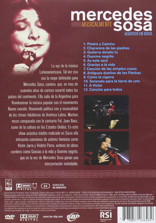 Acustico en Suiza Inedito [USA] [DVD]: Amazon.es: Mercedes Sosa ...