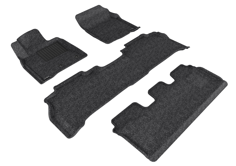 3D MAXpider Complete Set Custom Fit Floor Mat for Select Toyota Land Cruiser Models Classic Carpet L1TY15602202 Tan