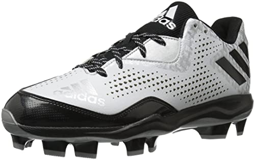 adidas - Poweralley 4 TPU Baseball da Uomo, Bianco (White/Black/Silver