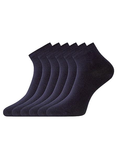oodji Collection Mujer Calcetines Tobilleros (Pack de 6): Amazon.es: Ropa y accesorios