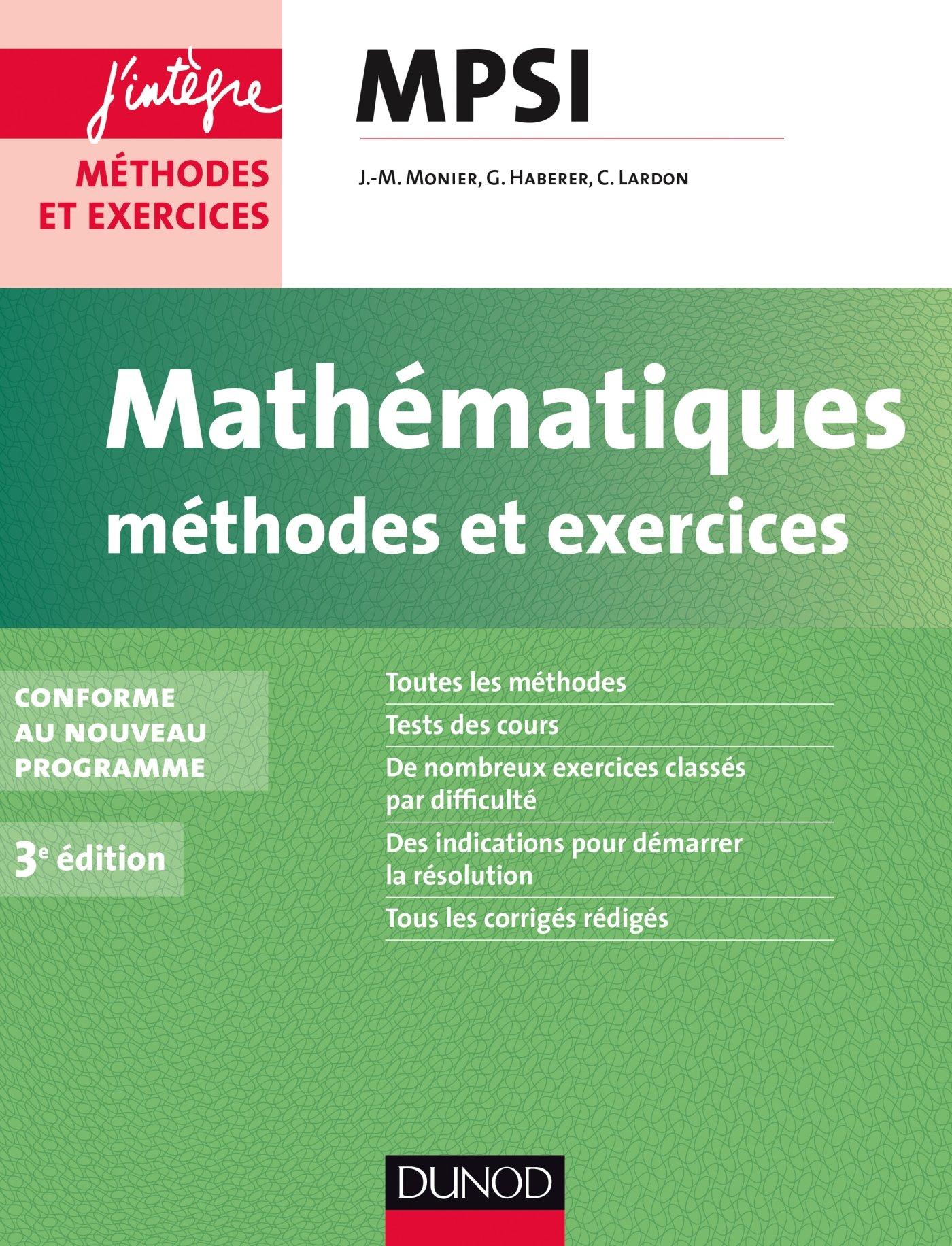 Mathématiques MPSI : Méthodes et exercices: Amazon co uk
