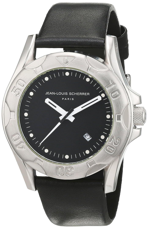 Jean-Louis Scherrer Herren-Armbanduhr Analog Quarz Leder SPGM923