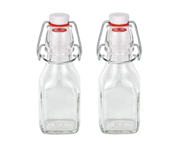 2 botellas de cristal (con cierre, 125 ml - Serie Swing 0,125 rellenables: Amazon.es: Hogar