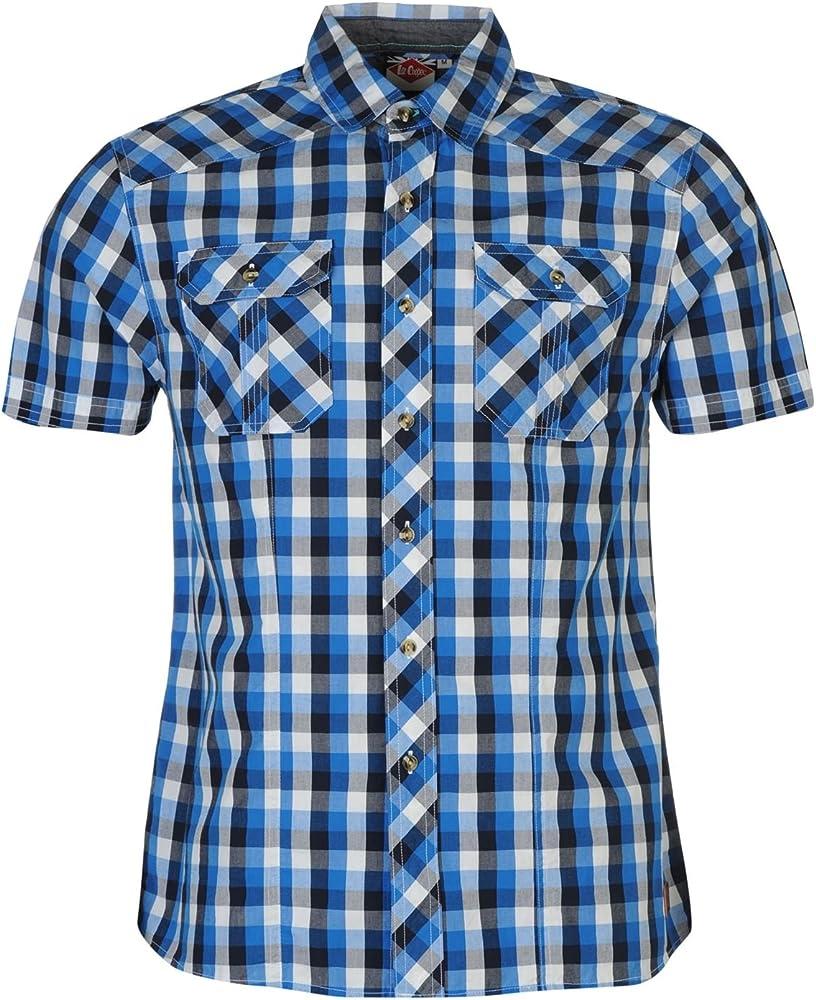 Lee Cooper Camisa de manga corta para hombre azul S: Amazon.es: Ropa y accesorios