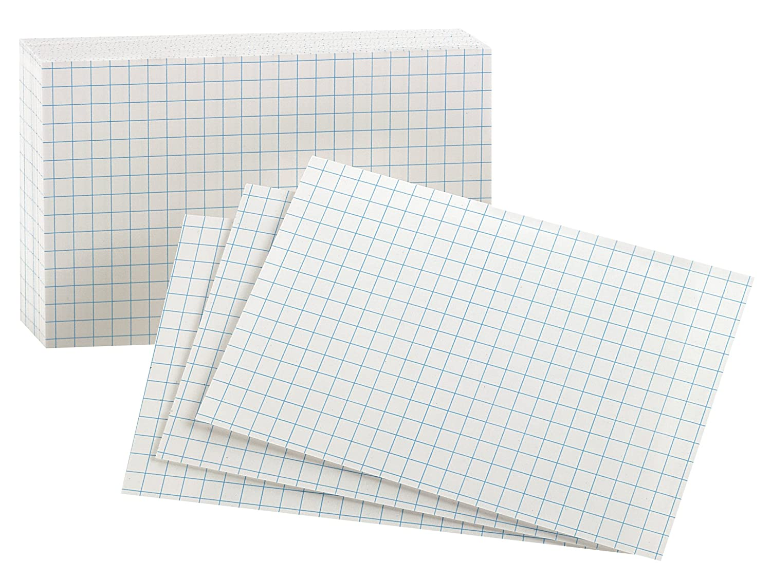 Oxford Grid Design Index Cards, 3 x 5 Inches, White, 100 per pack (02035EE) Esselte