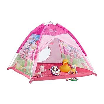 Relaxdays Spielzelt für Mädchen, Kinderspielzeit mit Feen-Schloss ...