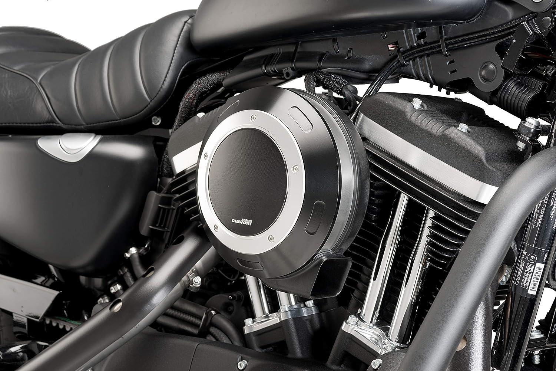 Puig Filterabdeckung 9993N f/ür Harley Davidson Sportster 883 Iron 16-18 Schwarz
