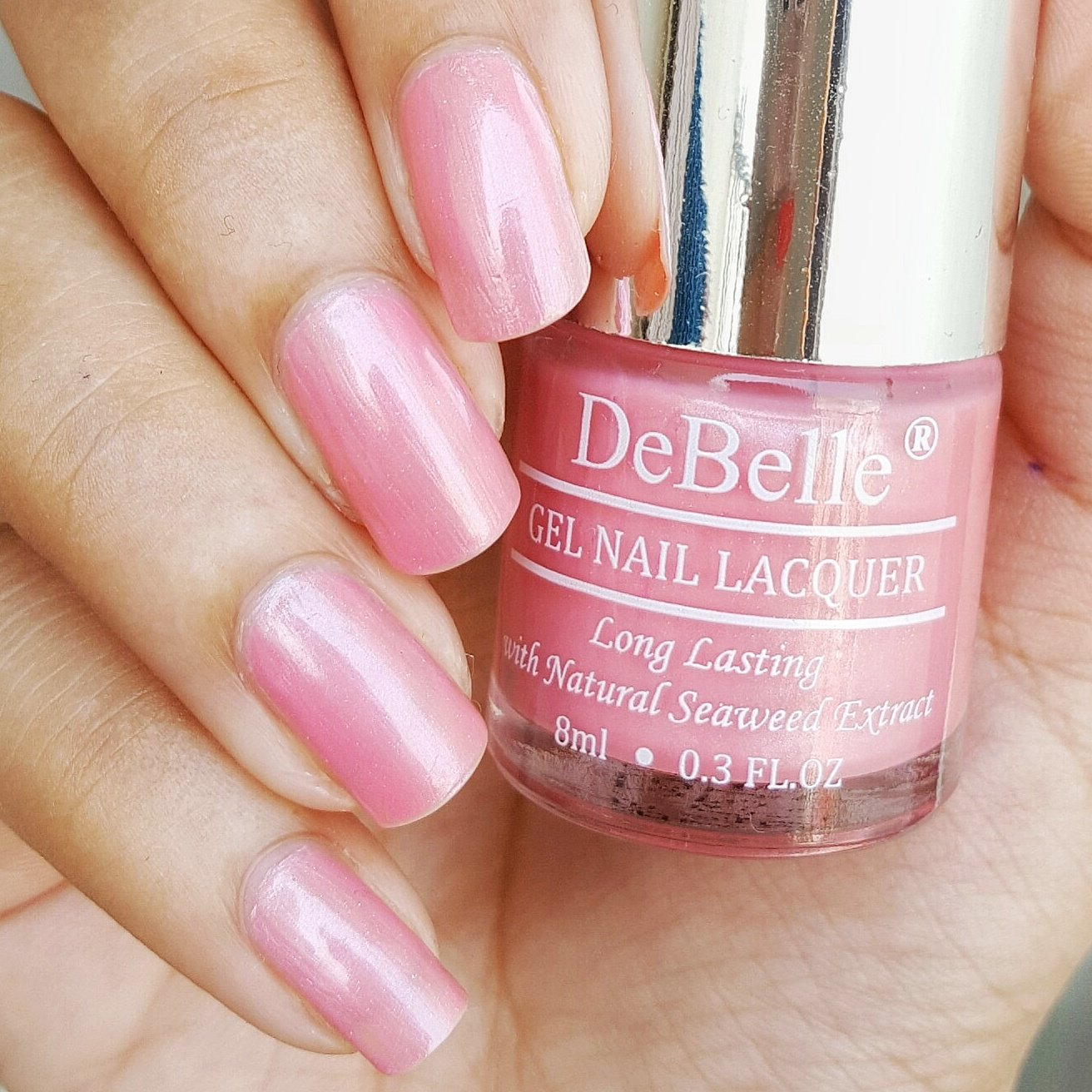 Buy DeBelle Gel Nail Lacquer Miss Bliss - 8 ml (Pink Nail Polish ...