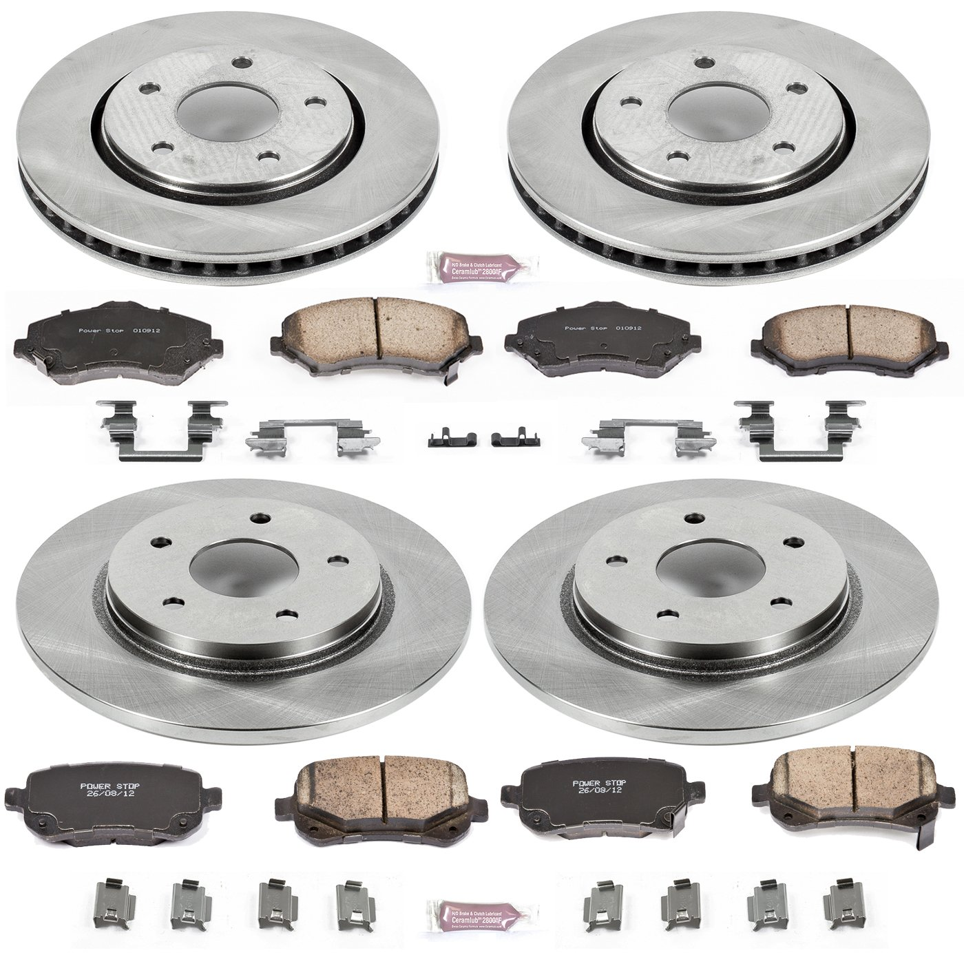 Autospecialty KOE4015 1-Click OE Replacement Brake Kit by POWERSTOP (Image #1)