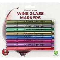 Name It Marker, metalik şarap cam kalem, mürekkep gıda Fun Farben. kişiselleştirilebilir Sie ihre içecekler gibi şarap Charms, Set 4