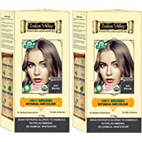 Indus Valley 100% Botanical Hair Color Ash Blonde-Set of 2 (Best For allergic Sufferers)