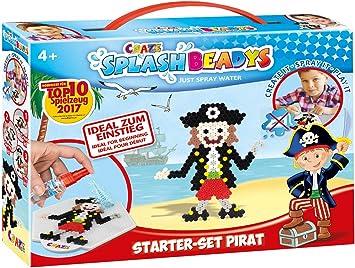 Accesorios 10778 Multicolor color//modelo surtido CRAZE- Cuentas de fusibles Splash BEADYS Juego de iniciaci/ón Pirate Craft Kit Fuse Beads Incl