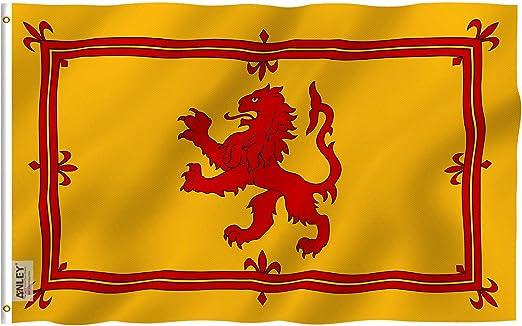 Anley Fly Breeze Bandera de león Rampante de Escocia de 3x5 pies - Color vívido y Resistente
