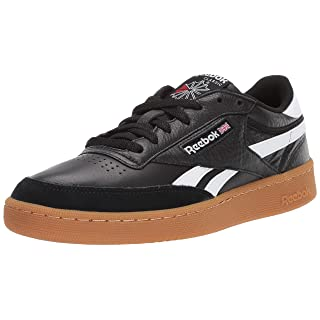 Reebok Men's Revenge Plus Gum Sneaker, Black/White, 11 M US
