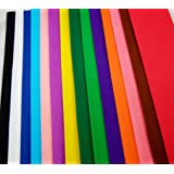 Top Quality Crepe Paper 15 Vibrant Colours per pack. Crepe Paper Folds (sheets) Handy size -150cm x 50cm each fold by Clikkabox
