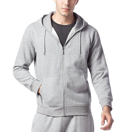 c69a01ec8f LAPASA Sweat à Capuche Homme Zippé Veste Sweat Shirt Doublure en Laine  Polaire Molleton - Noir