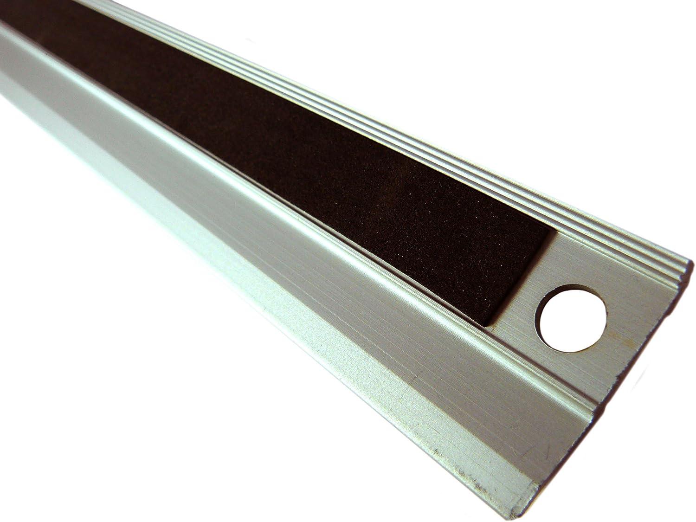 Regla m/étrica para cortar con freno,antideslizante,met/álica de 45 cm