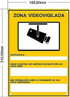Cartel disuasorio A5 Interior/Exterior, Placa disuasoria PVC ...