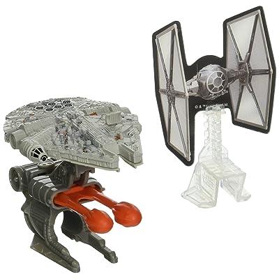 Hot Wheels Star Wars Blast Attack Millennium Falcon Vehicle: Toys & Games