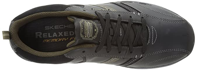Skechers Expected Devention Leather Shoes for Men Style