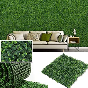 · Petgrow · Artificial Boxwood Panels Topiary Hedge Plant, Privacy Hedge Screen UV Protected Suitable for Outdoor, Indoor, Garden, Fence, Backyard and Decor (6PCES)