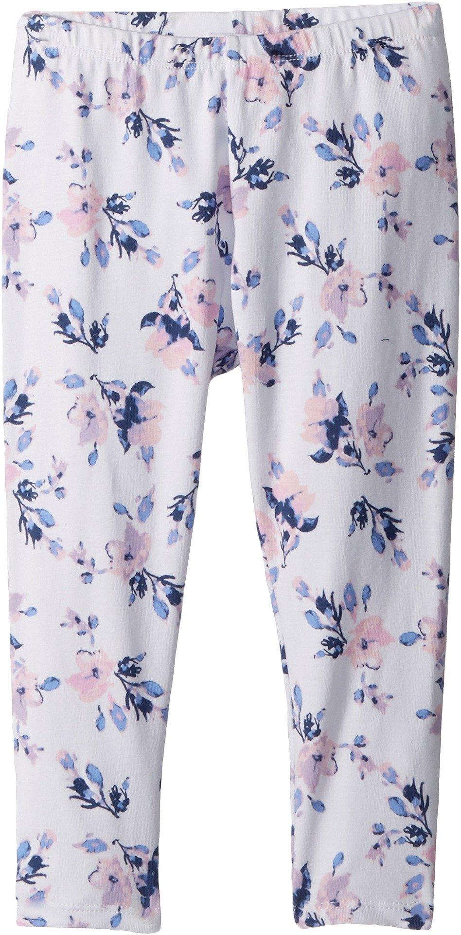 Splendid Toddler Girls' Floral Print Legging, Optic White, 4T
