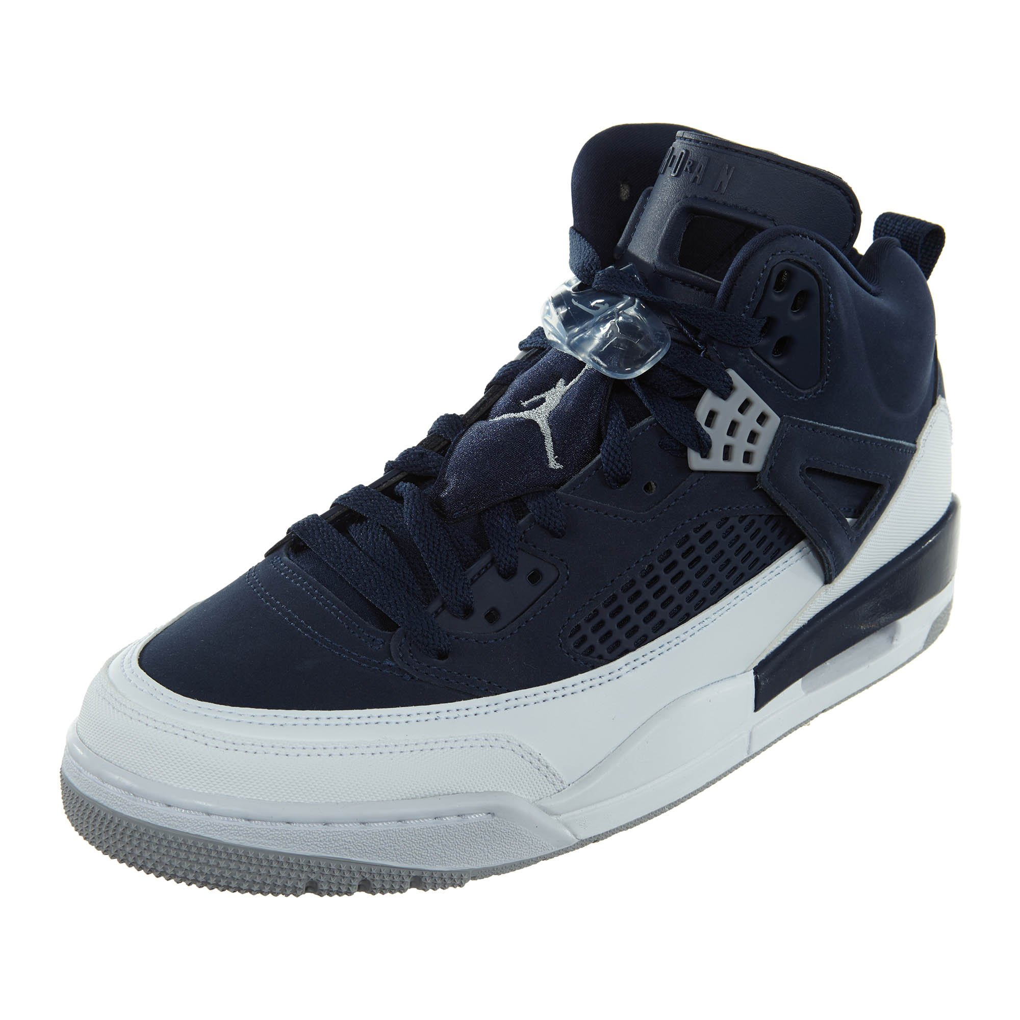 Jordan Spizike Men's Shoes Midnight Navy/Metallic Silver 315371-406 (12 D(M) US)