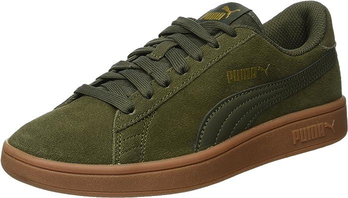 Puma Smash V2 Sneakers Unisex Damen Herren Grün/Gummi