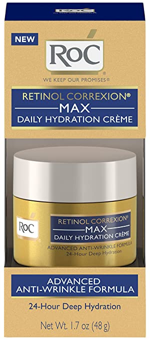 RoC Retinol Correxion Max Daily Hydration Anti-Aging CrГЁme,1.7 oz Extra Gentle Sensitive Skin, Hand and Face Wipes, 15 ct, Thick, soft, strong, moist towelettes lightly lotioned with lanolin and natural aloe By Wet Ones