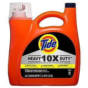 Tide 10x Heavy Duty Liquid Laundry Detergent, 115 fl oz 60 loads