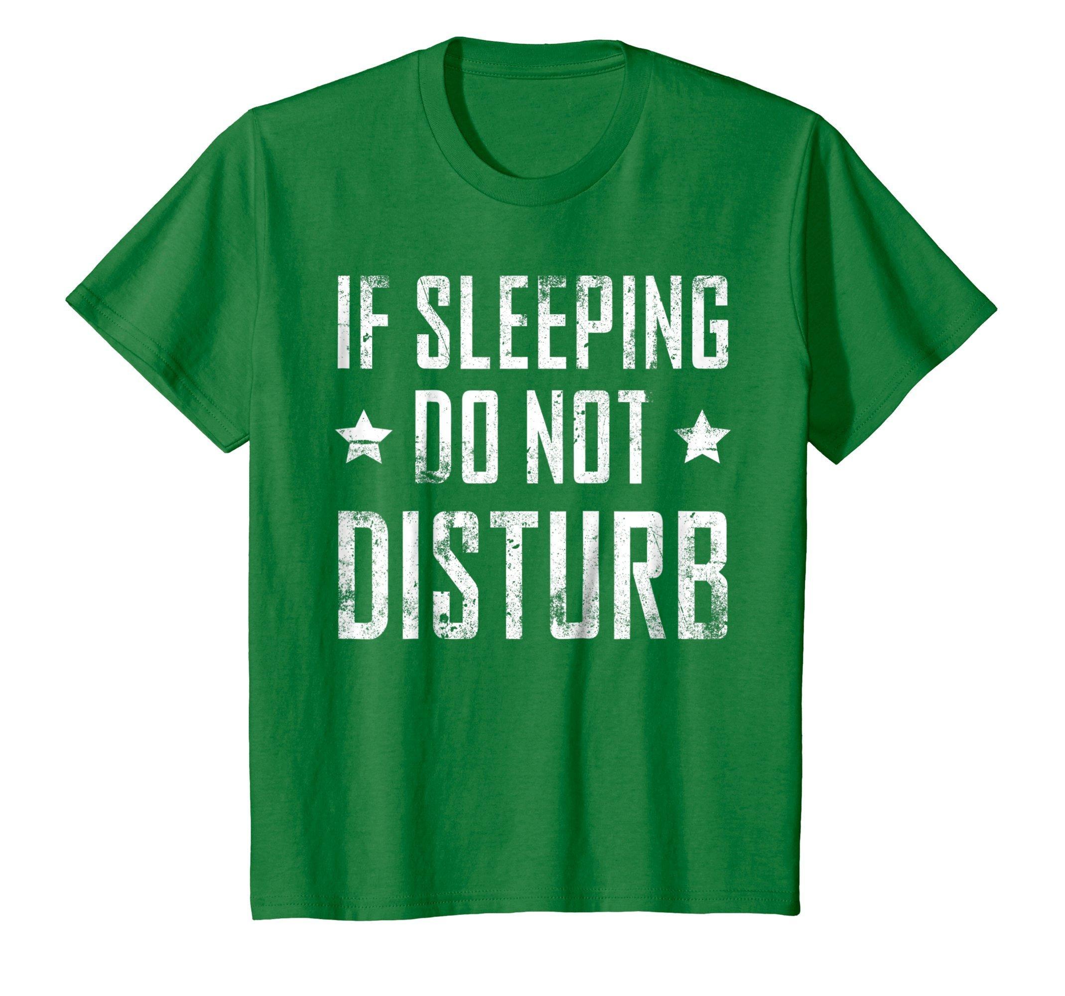 Kids Funny Pajama Shirt Teen Boys Dad Pajamas PJ Do Not Disturb 10 Kelly Green