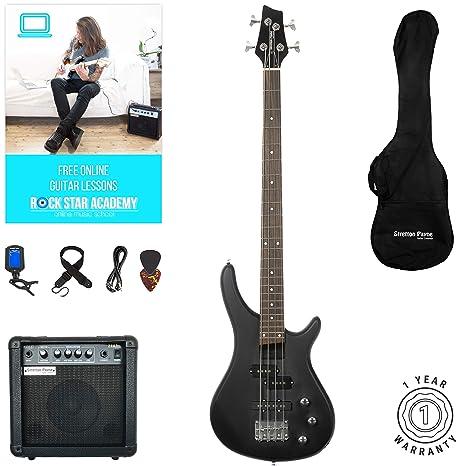 Guitarra eléctrica S1-Bass de Stretton Payne, cuello de arce, diapasón de madera