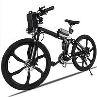 AIMADO Vélo de Montagne Électrique Pliable Tout-Terrain Puissance 250W, 26in E-Bike avec Lithium-Ion Batterie 36V - Vitesse 30 km/h – Charge 200kg (EU Stock)