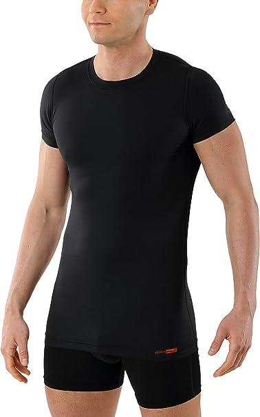 ALBERT KREUZ Camiseta Interior Negra para Hombre de Tejido técnico ...