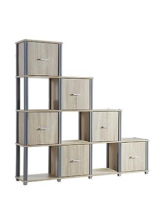 Demeyere 413449 Polystep Bücherregal 6 Türen, 4 Nischen aus ...